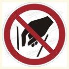 Hineinfassen verboten, P015