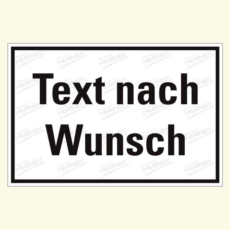 Hinweis mit Text nach Wunsch 1  Hinweis Text nach Wunsch