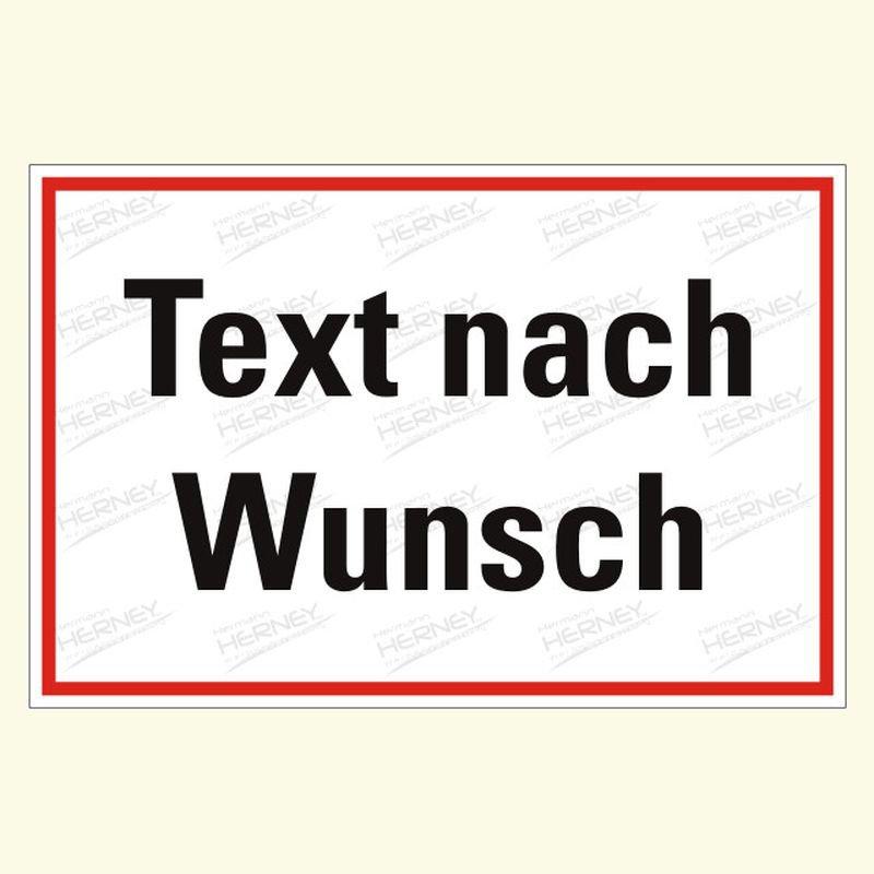 Hinweis mit Text nach Wunsch 2