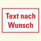 Hinweis mit Text nach Wunsch 3