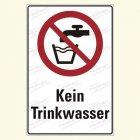 Kein Trinkwasser Kombischild, P005