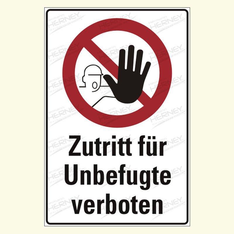 Zutritt verboten Kombischild
