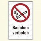 Rauchen verboten Kombischild, P002